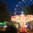 Stock Photo: Big and bright ride in park of entertainments in Sochi city. Russia.