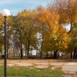 City view of Taganrog small russian south town.Autumn - Stock Photo
