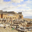 The Ancient destroyed Temple in the mountains of Turkey. Pamukkale - Stock Photo