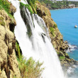 The Big waterfall in Turkey,Antalya. - Stock Photo