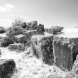 The black-white big square stones — Stock Photo