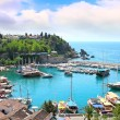 The Mediterranean gulf in Turkey - Stock Photo