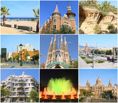 Alle barcelona collage. spanien — Stockfoto