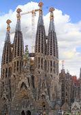 Temple Sagrada Familia in Barcelona, Spain. — Stock Photo