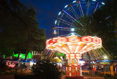 The big and bright ride in park of entertainments in Sochi city. Russia. — Stock Photo