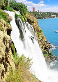 The Big waterfall in Turkey,Antalya. — Stock Photo