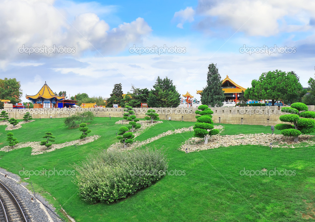 View of the Chinese park.  Stock Photo #1897725