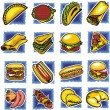 Stock vektor: Fast food set - vector illustration.