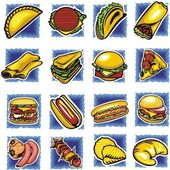 Fast food set - vector illustration. — Vector de stock
