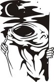 Aliens study a terrestrial civilisation. — Stock Vector