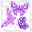 Butterflies in Modern Style - Set 2. — Stockvectorbeeld