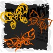 Tribal Butterflies - Set 5. — Vettoriali Stock