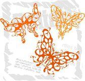 Butterflies in Modern Style - Set 3. — Stock Vector