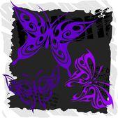 Tribal Butterflies - Set 4. — Stock Vector