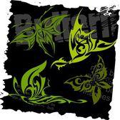 Tribal Butterflies - Set 9. — Stock Vector