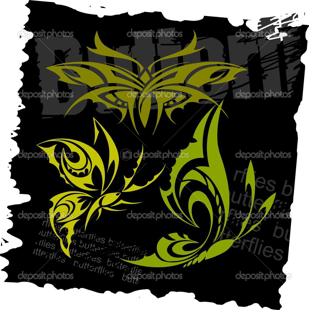 tattoo gothic butterfly