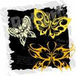 Tribal Butterflies - Set 21. — Stock Vector #2233571