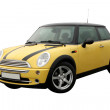 YELLOW MINI COOPER - Stock Photo