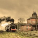 gamla retro ångtåg — Stockfoto