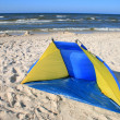 Tent on the beach — Stock Photo
