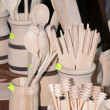 Royalty-Free Stock Photo: Wooden cutlery at the traditional street