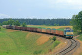 Freight diesel train — Stock Photo