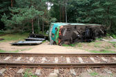 Train crash — Stock Photo