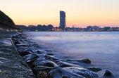 Stony sea coastline — Stock Photo