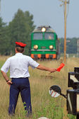Railway traffic controlling — Stock Photo