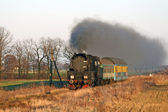 Trem a vapor na alta velocidade — Foto Stock