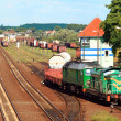 Train shunting at the freight yard - Foto de Stock