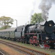 Steam retro train - Foto de Stock