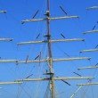 Rigging of big sailing ship — Stock Photo #1934591