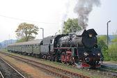 Retro buharlı tren — Stok fotoğraf