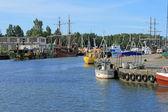 Yachtmarina bay i łeba, poland — Stockfoto