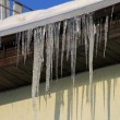 Icicles on roof — Stockfoto #1945558