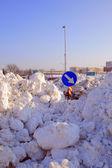 Neve esmagado — Foto Stock