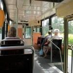 Tram interior — Stock Photo