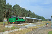Passenger train — Stockfoto