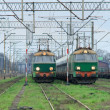 Freight trains at the station — Stock Photo