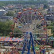 Aerial view of the amusement park and se — Stock Photo #1972515