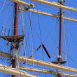 Rigging of a big sailing ship — Stock Photo