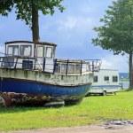 Old vintage boat — Stock Photo