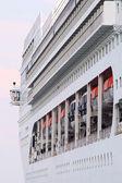 Sidovy av på passagerarfartyg — Stockfoto