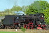 Staré retro parní vlak — Stock fotografie