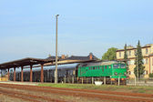 пассажирский поезд — Стоковое фото