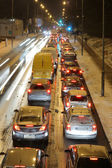 Evening road rush — Stock Photo