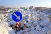 Crushed snow — Stock Photo