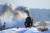 Old retro steam train — Stock Photo