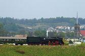 Treno a vapore retrò — Foto Stock
